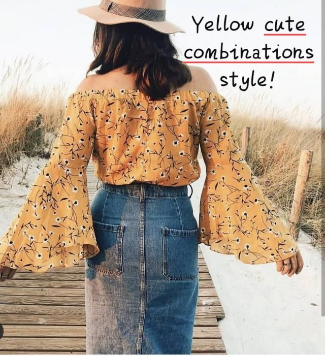 Yellow cute combinations style! ▪Find mustard maxidresses, to skirts andtops, with free delivery available. ... …