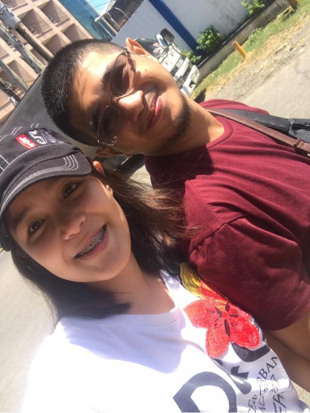 With boyfie.