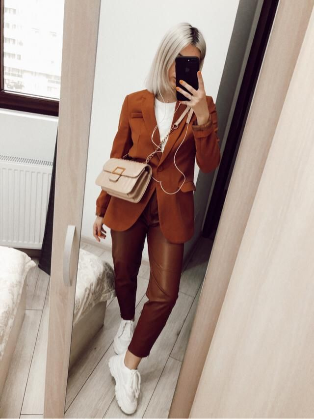 This is my style for a hard working days. Love these brown tones lately!