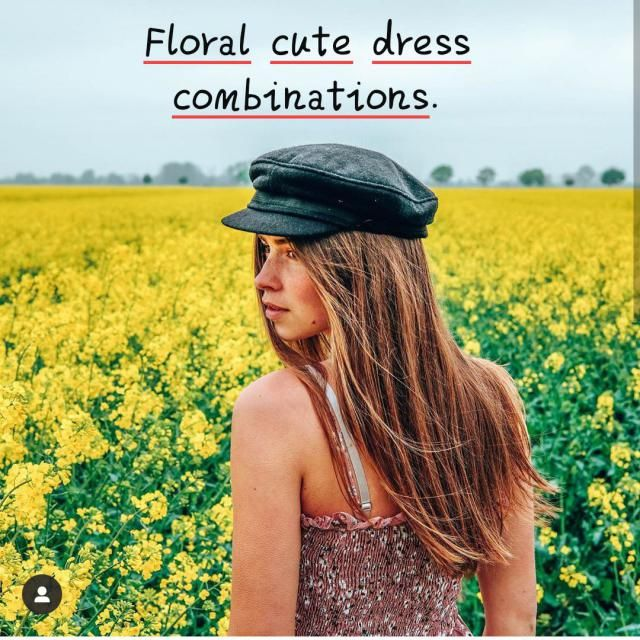 Floral cute dress combinations. ▪There are many cute simple floral gowns, but a short dress with puffed sleeves an…