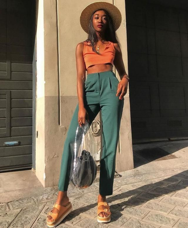 Outfit inspired by Gemini colours ( orange green )  perfect for summer time .