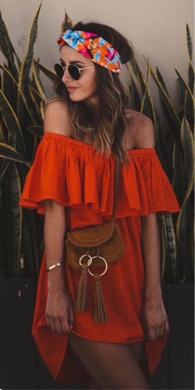 Perfect orange dress for a Gemini