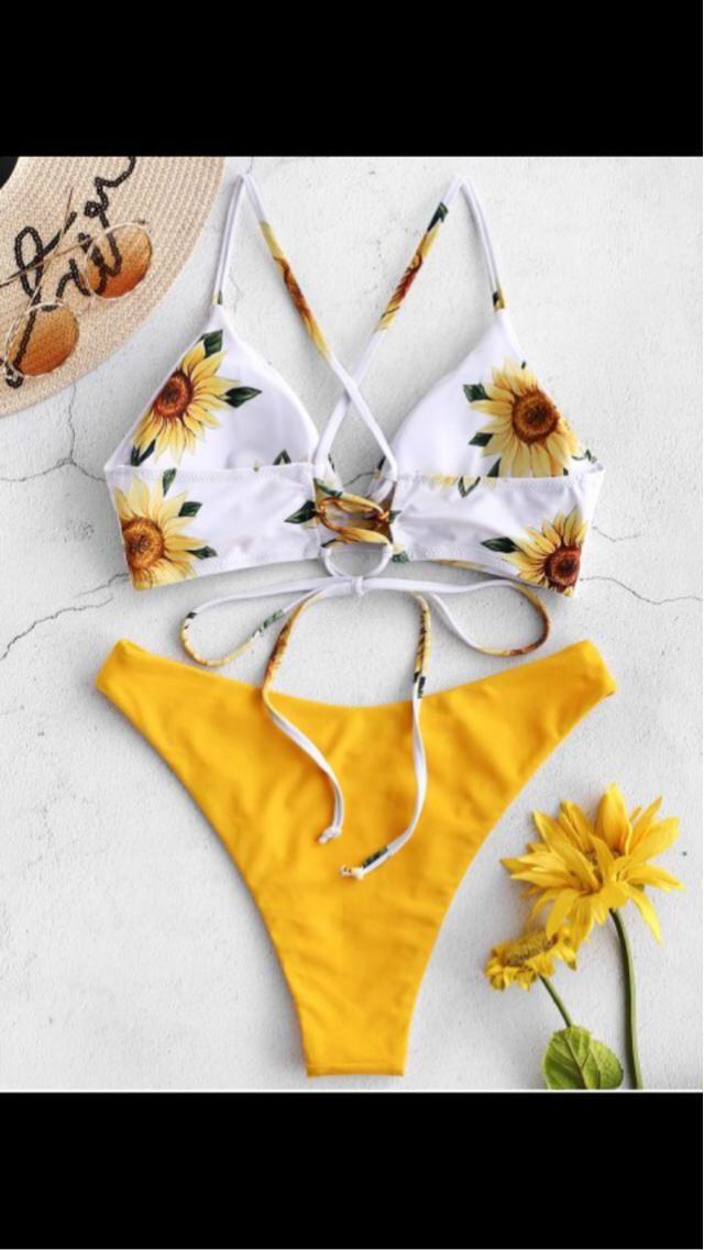 2824ca7e19312 23% OFF] 2019 Off Shoulder Lemon Twist High Cut Bikini In WHITE | ZAFUL