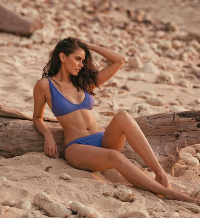 Dreaming of para-paradise!...,  Sizzling hot with this awesome blue two-piece bikini!...