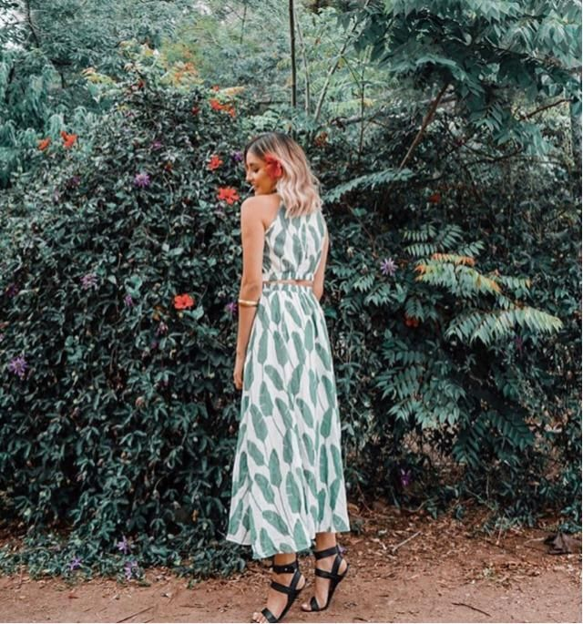 Leaf dress definitely match the Mother Nature colour
