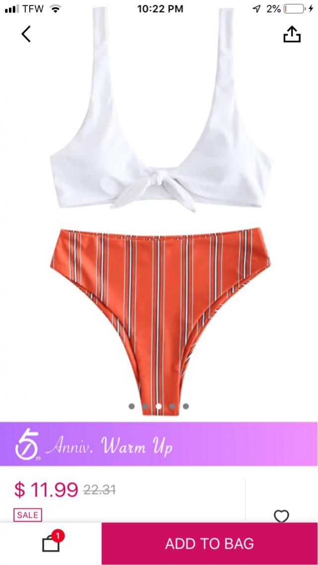 Waiting on some of my ZAFUL swim suits to come in (: