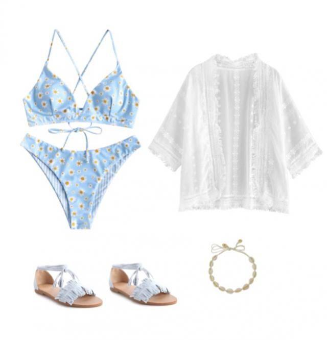 Summer beach look
