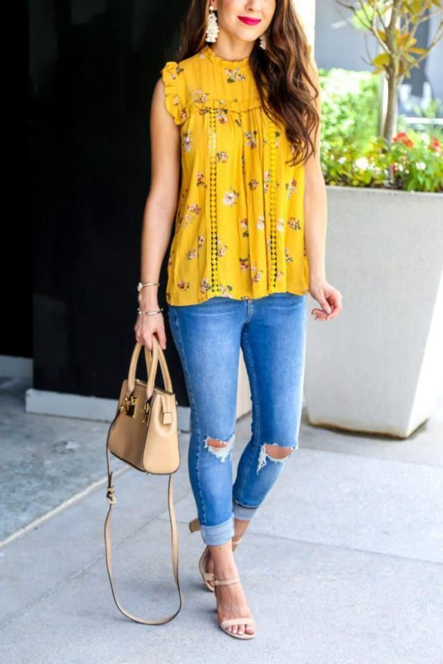summer floral ruffle top....