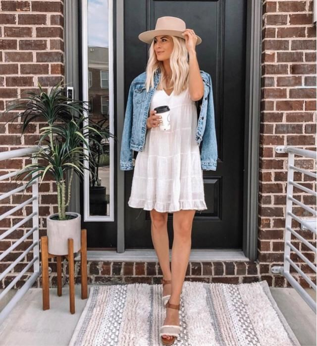 Loving to go out with white dress! It's gorgeous and stylish, not transparent