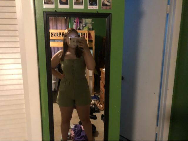 this romper is super cute!! Material is really nice but it's a little small, still super cute :)