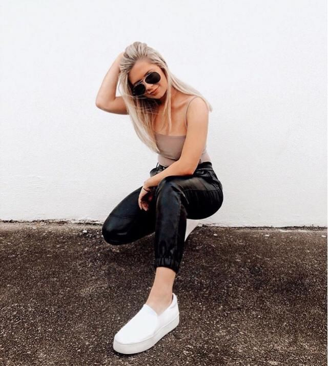 CUTEST leather pants from Zaful! Fit perfect and look bomb as heck! Style tip! Leather pants are a great way…