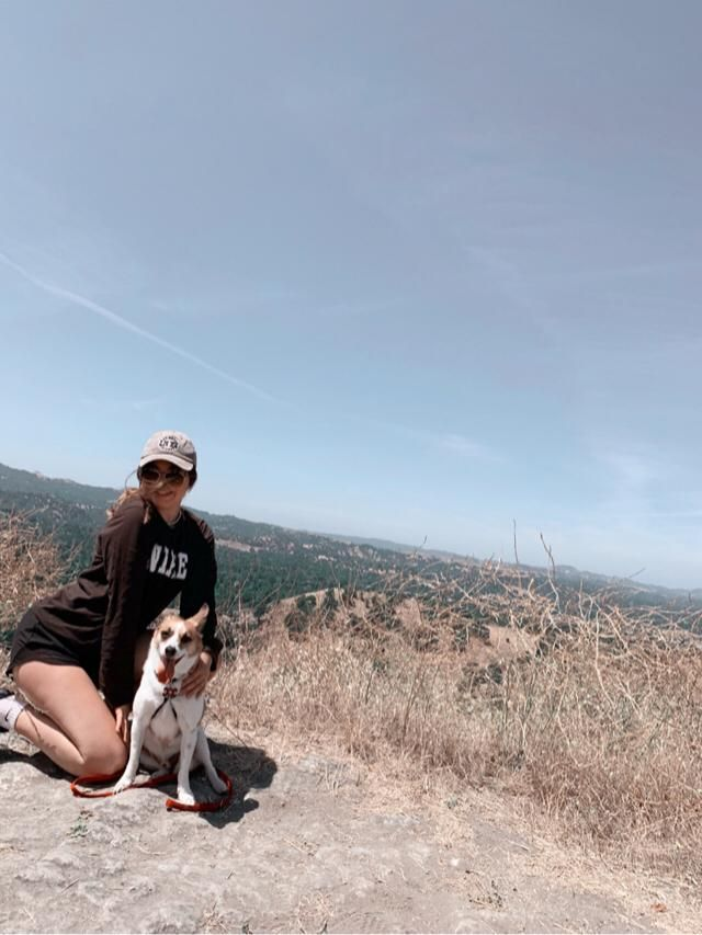 Hiking with the pup