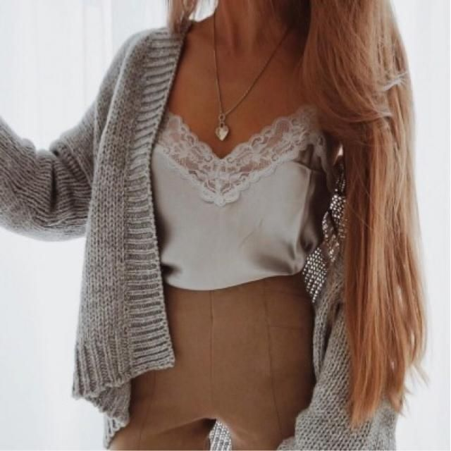 Gray cardigan it's perfect for any outfit ❤️❤️❤️