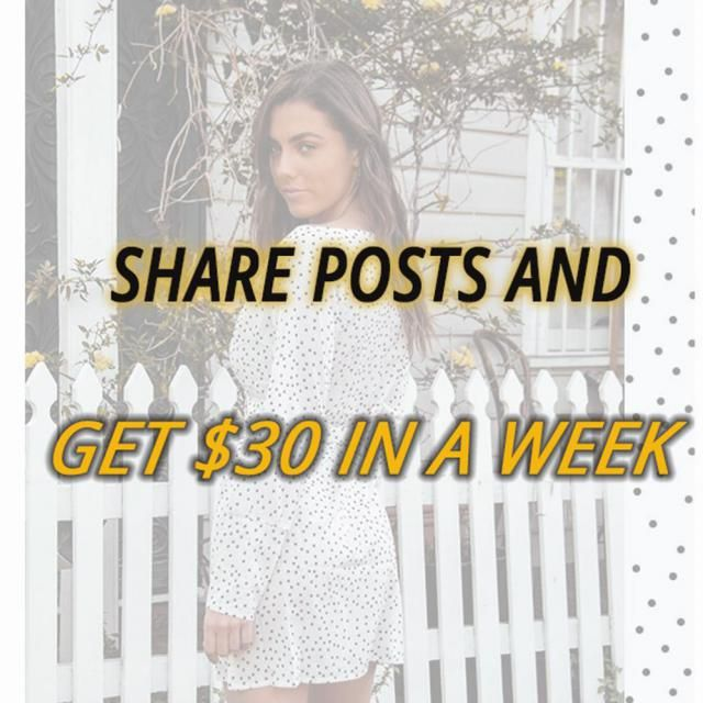 Hey, girls , a piece of amazing news for you. Share posts and get $30 in a week 1. Share Z-Me posts with your friends o…