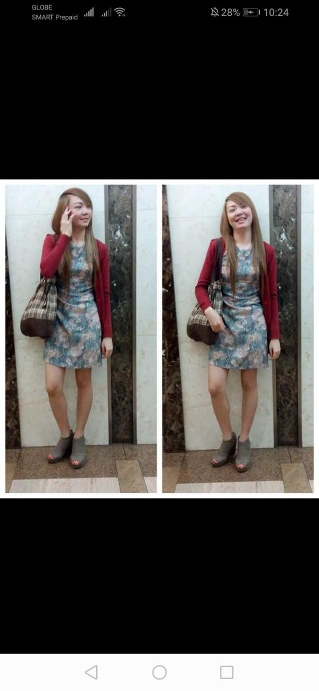 Got to go to work with thislovely floral dress. This dress makes me stands out the color makes my skin more …