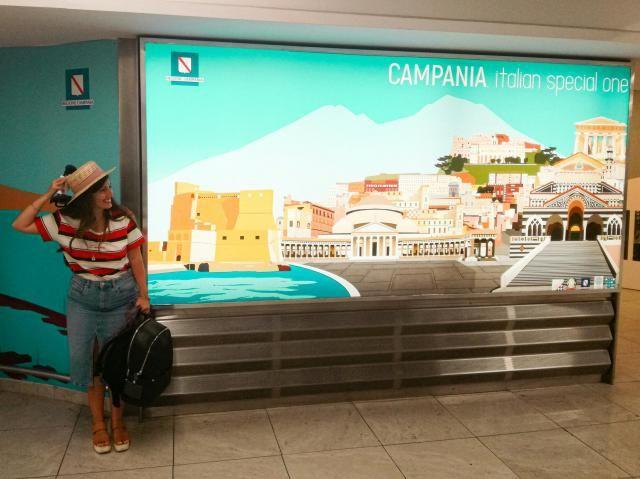 Orgogliosa di mio fratello!! MY BROTHER'S WORK, the PICTURE IN THE AIRPORT OF NAPLES