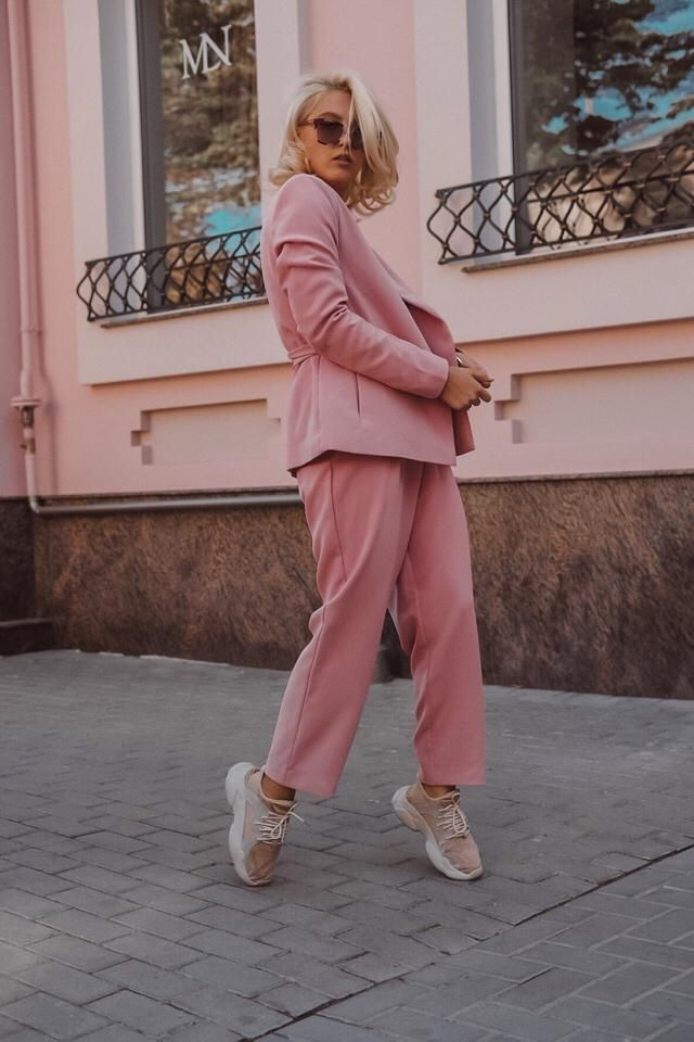 A Pink suit never goes out of style.