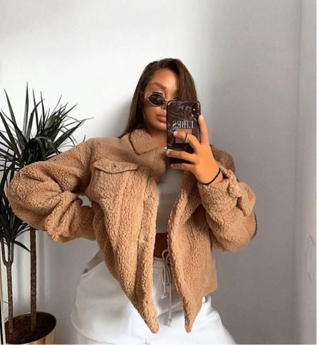 Teddy coat it's the best option for autumn!