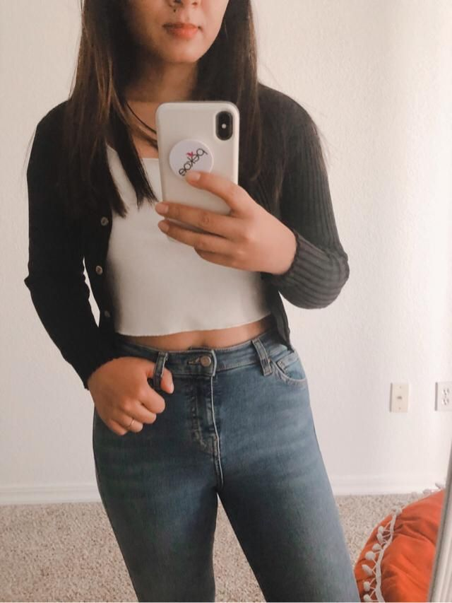 Cute Cute and comfy outfit because it's cold in LA again for some reason! Love this pulled over! Su…