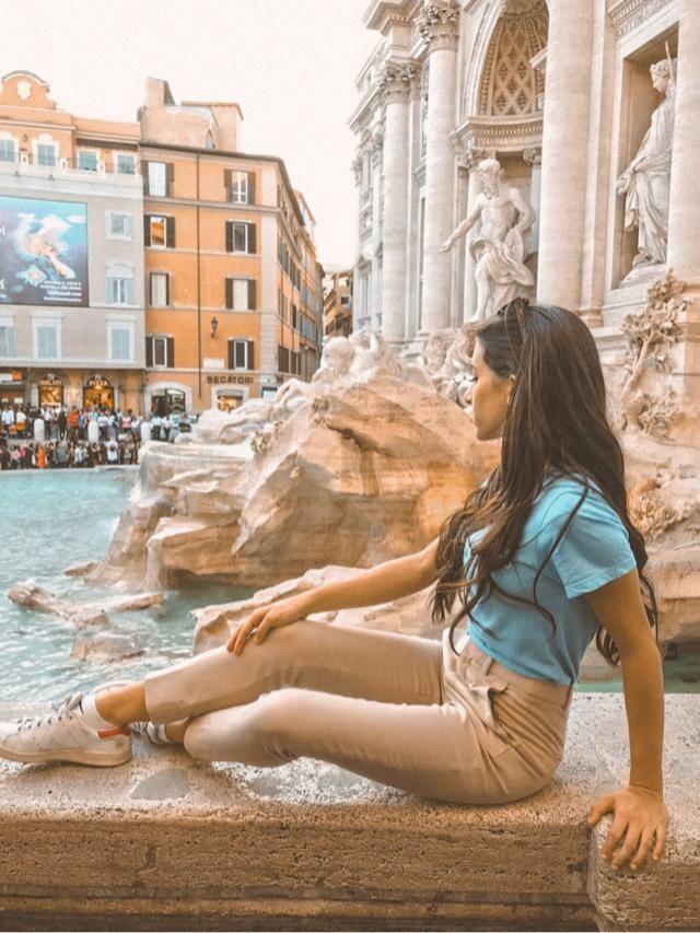 Trevi Fountain. Rome baby