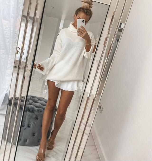 Wearing all white for winter is a good idea