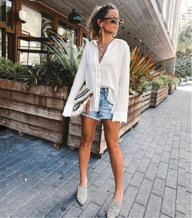 Morning routine with simple outfit