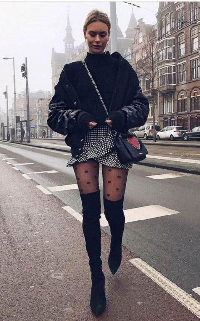 I just looove combine pointed toe high boots with mini skirts | how about you? | | |