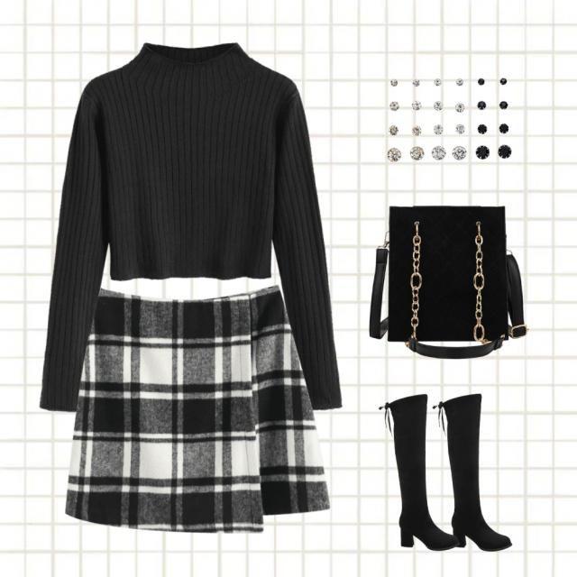 plaid skirt!