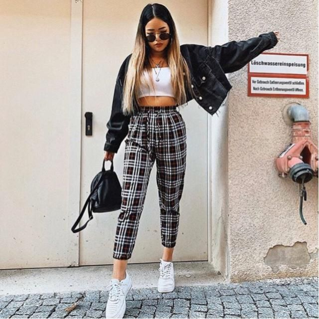 This fall let's rock plaid outfit, this pants is comfy and awesome