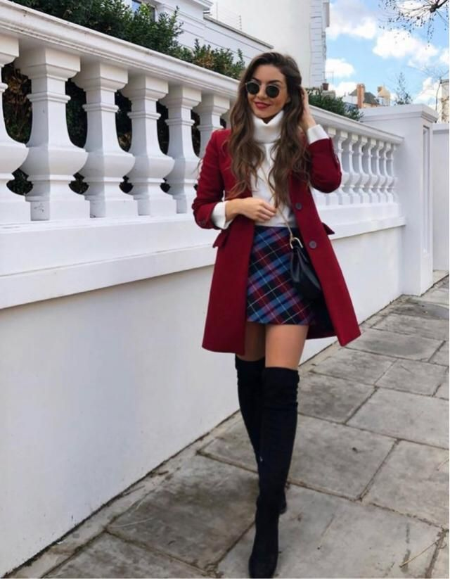 Nothing better than a plaid skirt