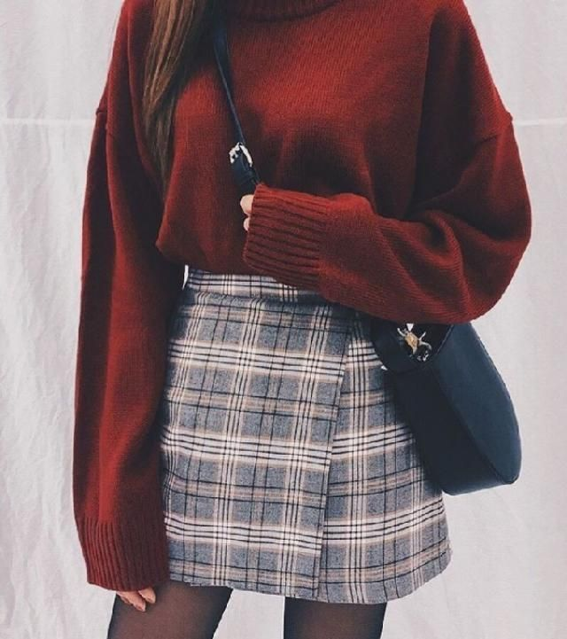 Plaid is a pattern I love to wear during. You can find plaid skirts, pants even dresses