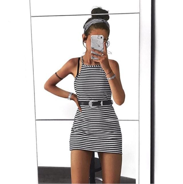living in this striped dress x