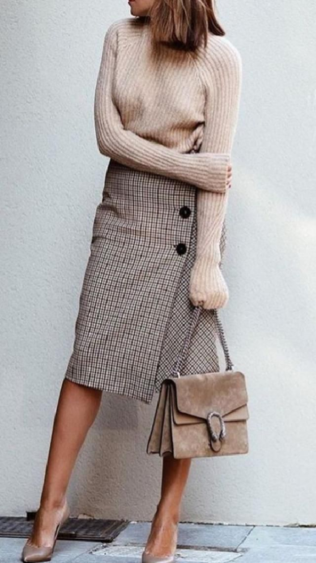 You can dress up a cute with a silk blouse and pumps,pairthem with some knee-high boots and a chunky sweater …