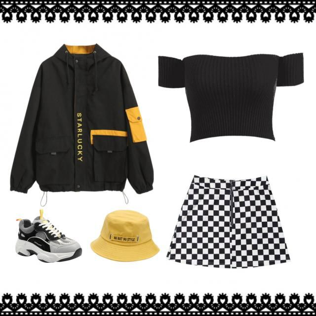 OUTFIT AESTHETIC WITH skirt and tennis