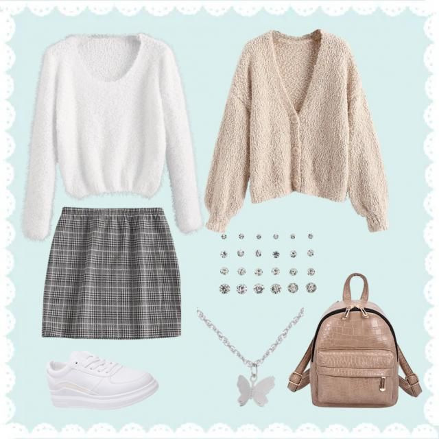 Soft simple cute outfit