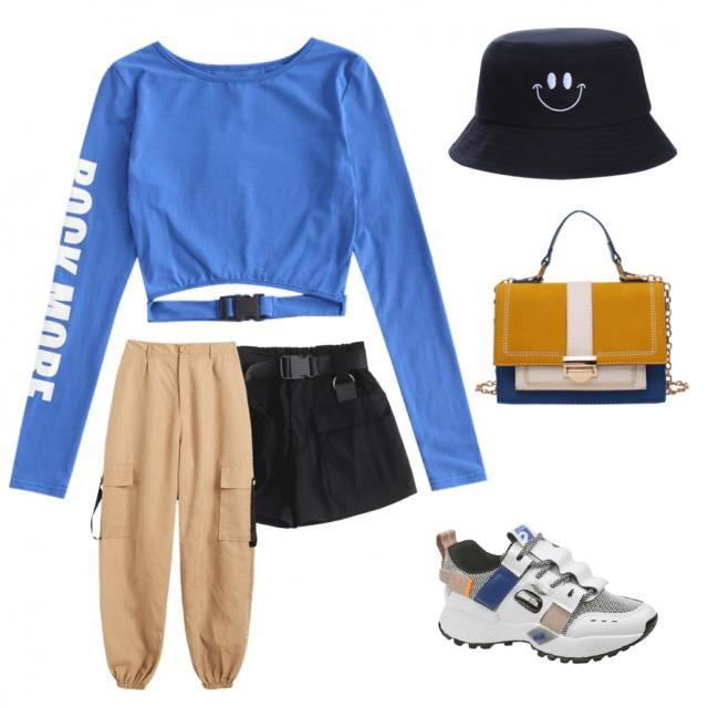 this started off with me trying to make an outfit only using the color blue but here we are... i liked …