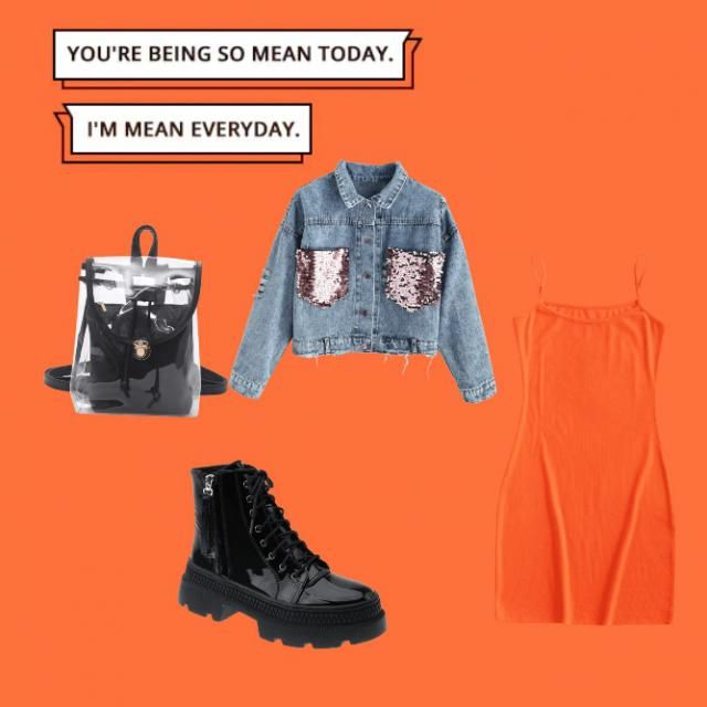 Nothing beats layering a simple dress with a denim jacket and a pair of boots