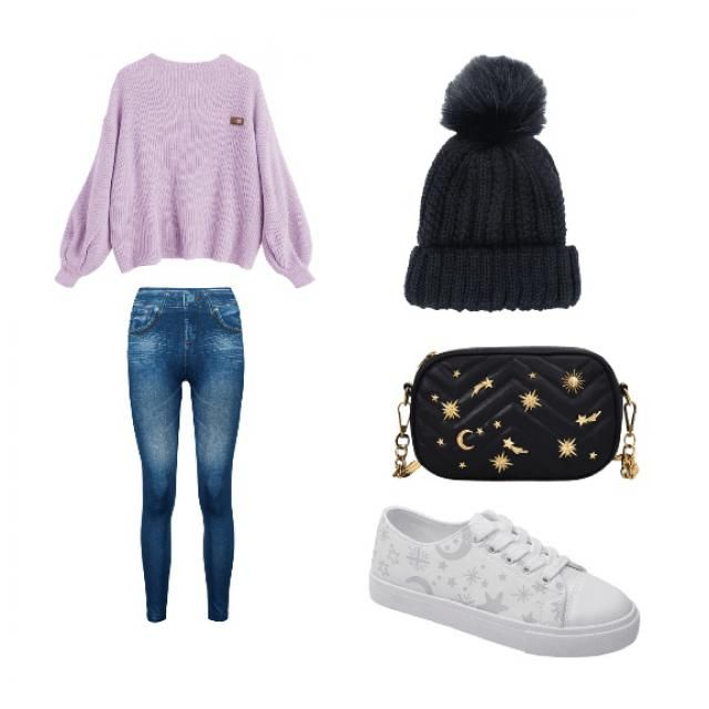 Cute winter day outfit.  Love the shirt
