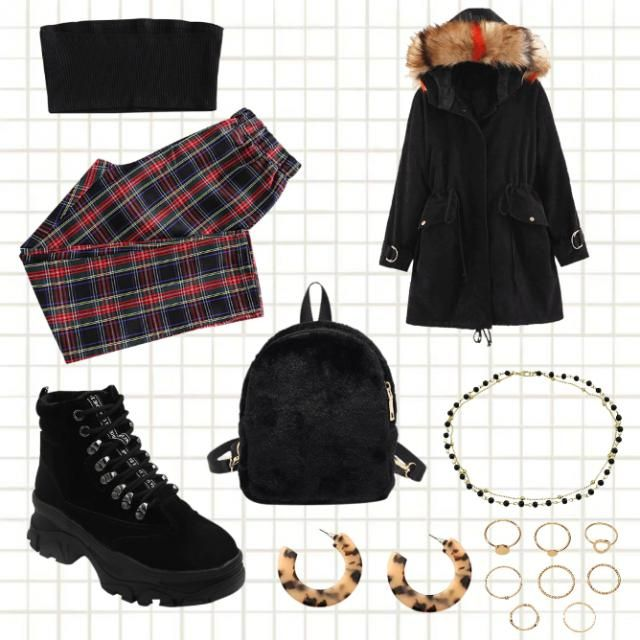 School Comfy Winter Outfit