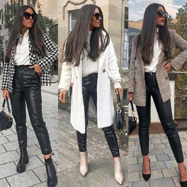 this is 3 chic ways to wear leather pants