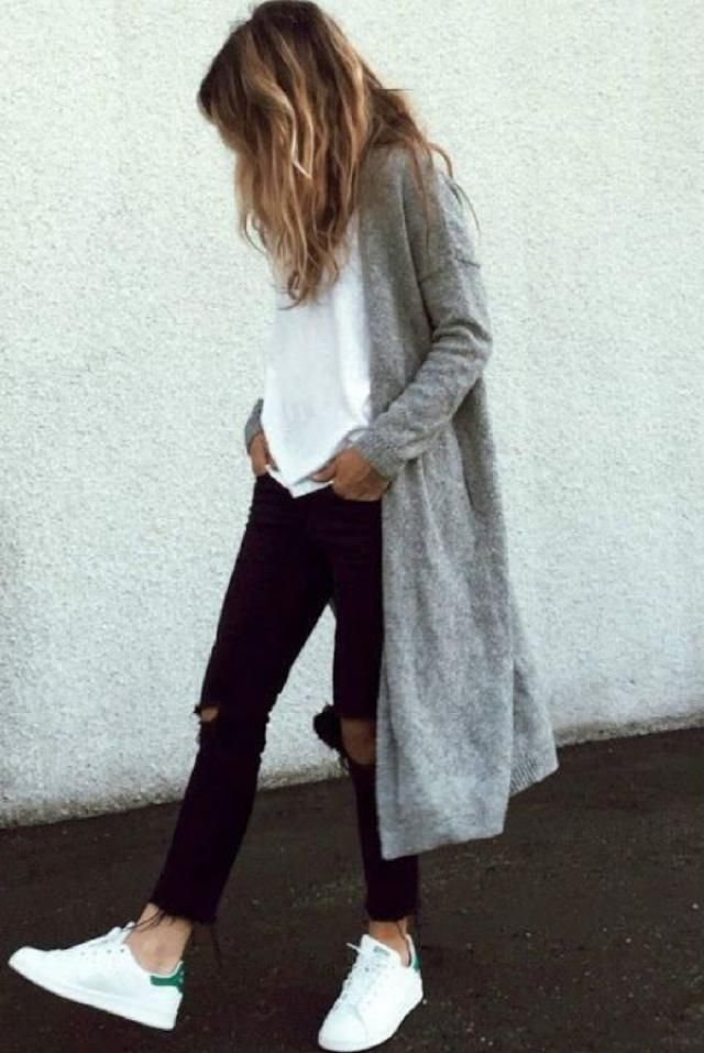 Wear Skinny Jeans or Leggings With Women's Long Cardigans. Warm, wooly cardigans add an extra layer. Cardigans are p…