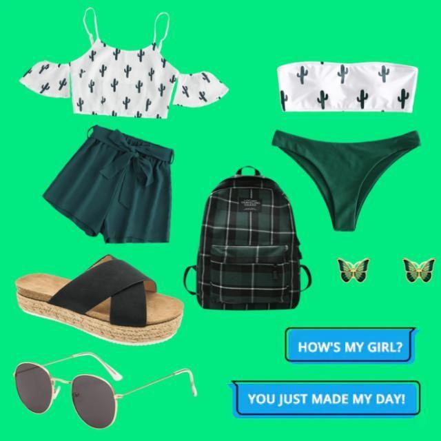 Beach, summer outfit