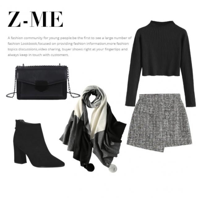 super cute outfit idea can even add black panty hoes for the cold weather or replace crop with a plain sweater tucked…