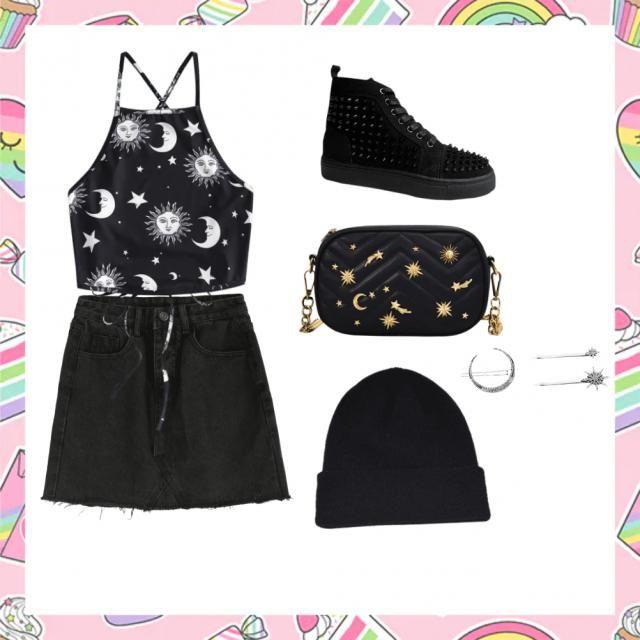 Lunar/goth outfit