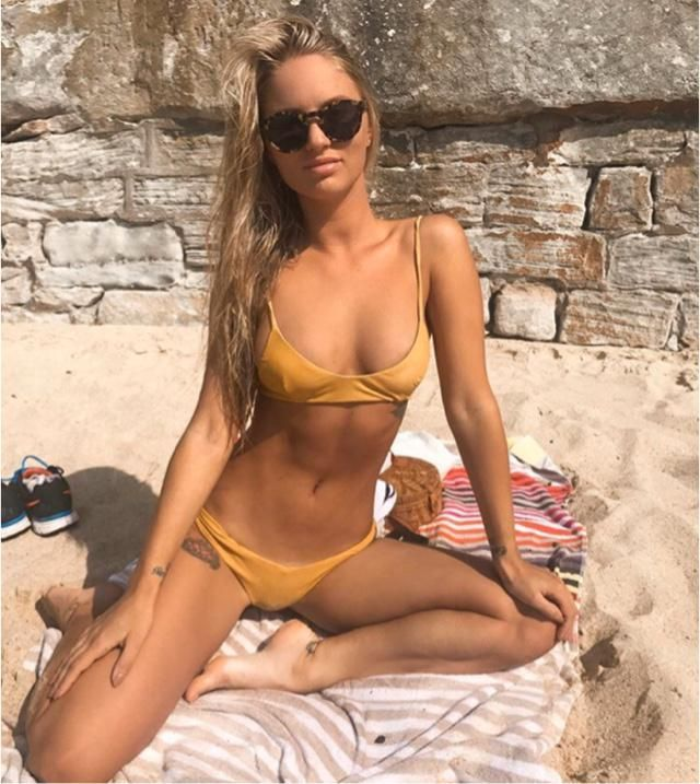 Yellow bikini match your summer mood and bright sun