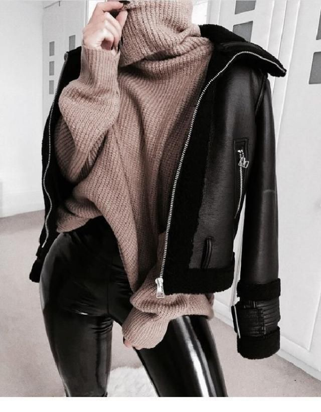 Leather & Sweater | | |