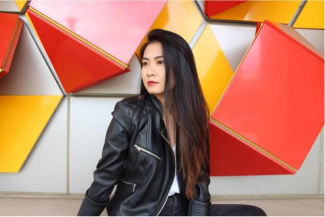 Cute Cute and comfy outfit because it's cold in LA again for some reason! Love this leather jacket !…