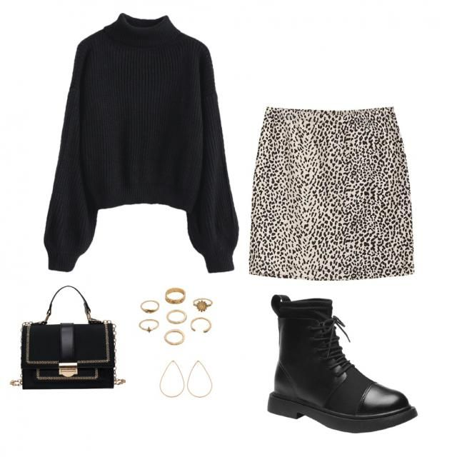 Loving this outfit for a fun, fall look ! The gold accents to the bag and accessories are a perfect addition to the out…