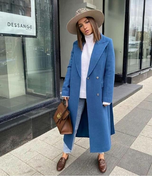 if you are looking for a chic stylish coat get this beautiful blue coat