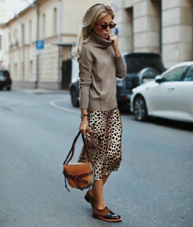 I love this high waist leopard skirt it looks really fancy with turrtleneck sweater